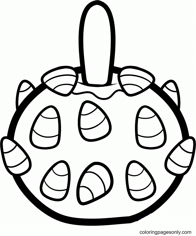Halloween Candy Printable Coloring Page
