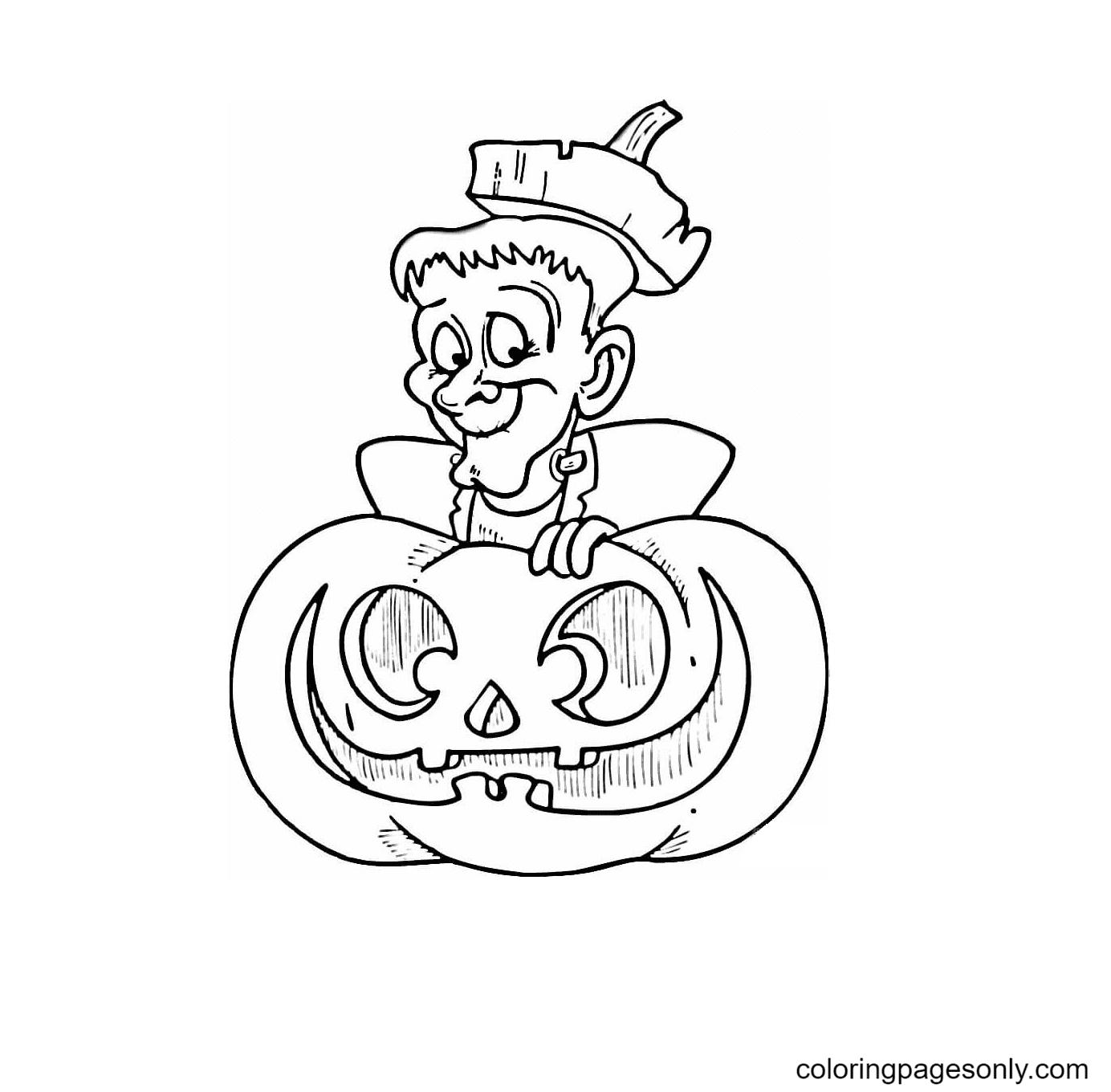 Halloween Frankenstein Coloring Page