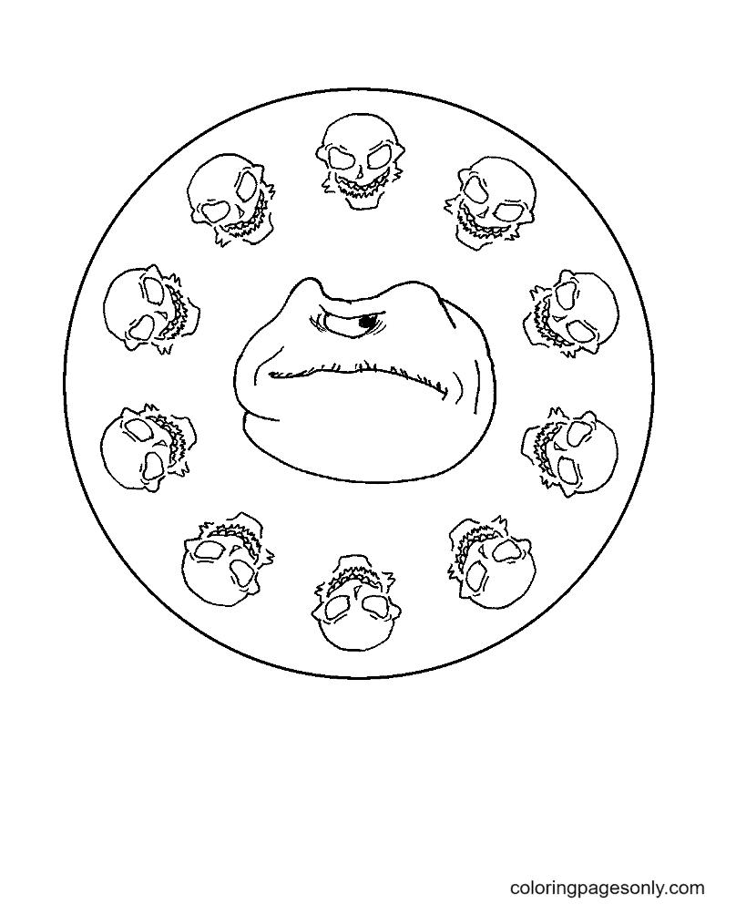 Halloween Mandala Monsters Coloring Page