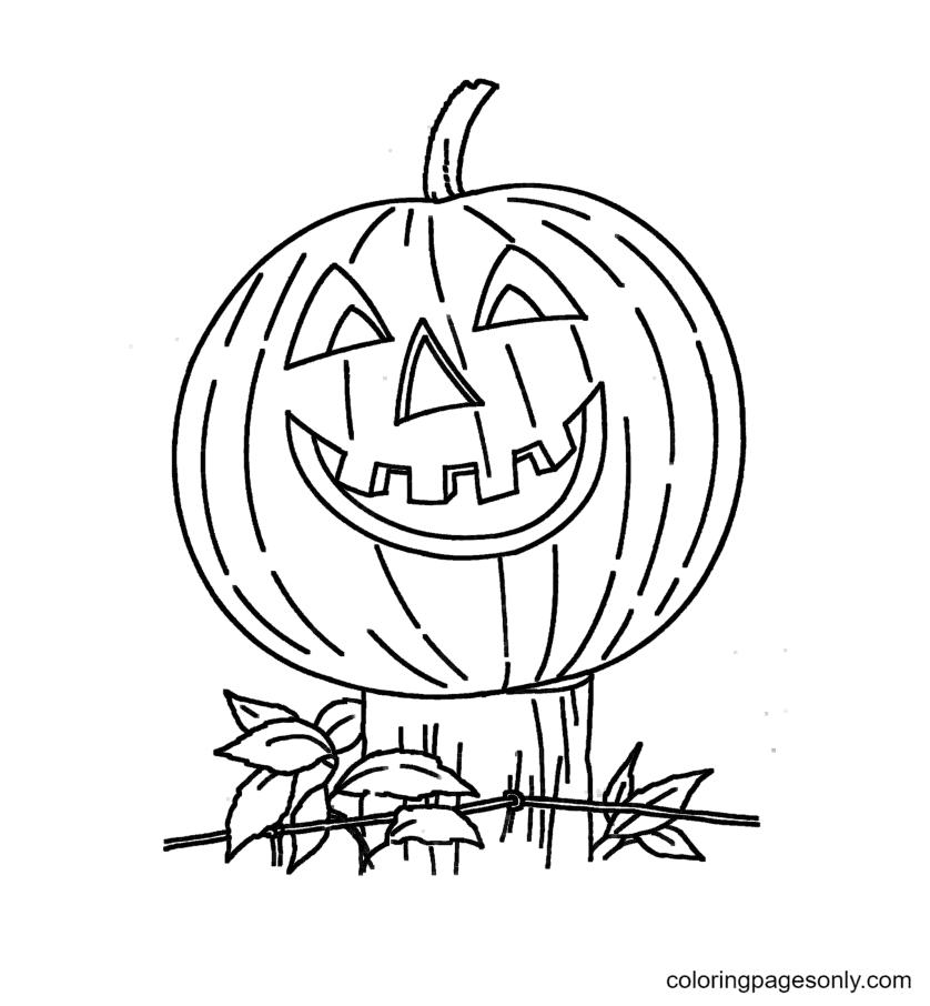 Halloween Pumpkin Free Printable Coloring Page