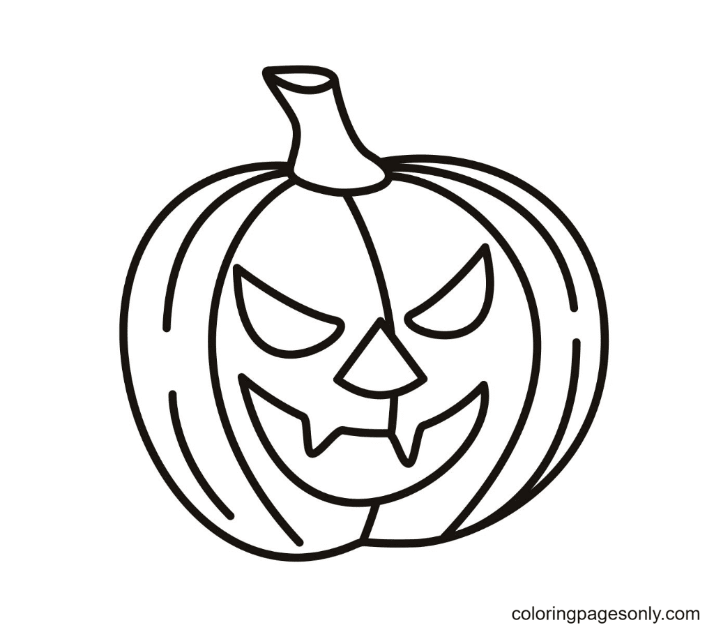 Halloween Pumpkin Free Coloring Page
