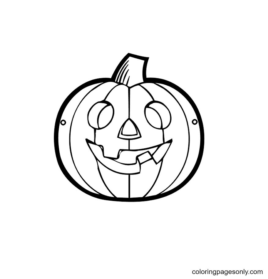 Halloween Pumpkin Fun Coloring Page