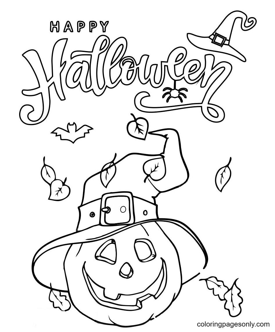 Halloween Pumpkin Image Coloring Page