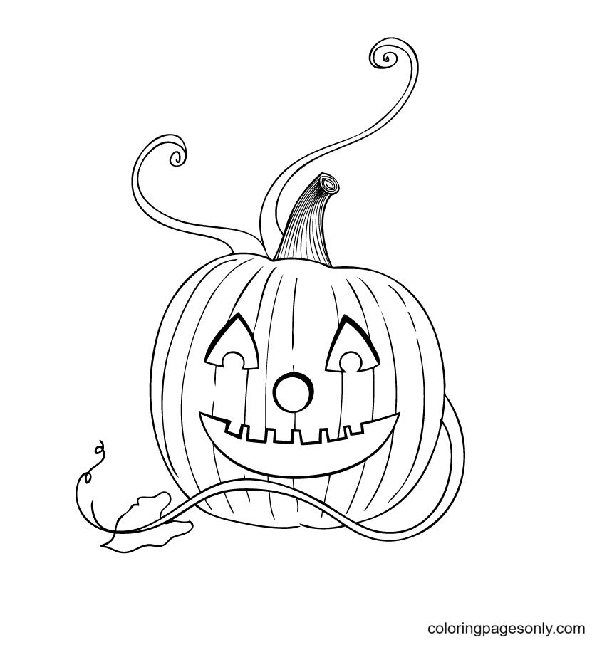 Halloween Pumpkin Lights Coloring Page