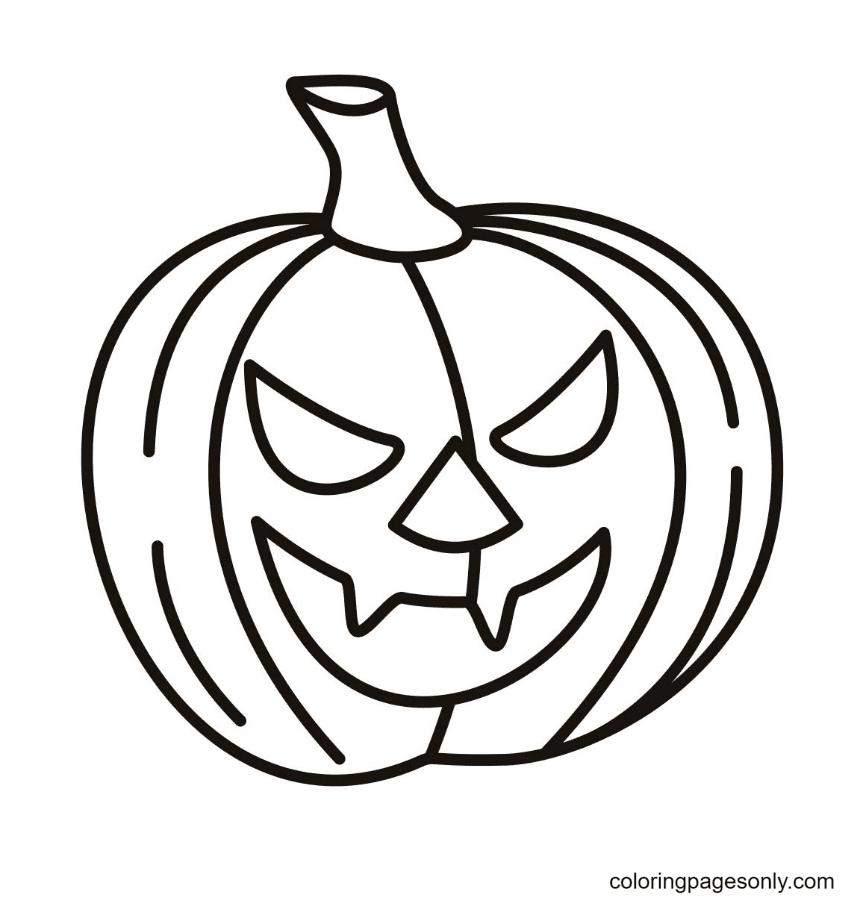 Halloween Pumpkin Printable Coloring Page
