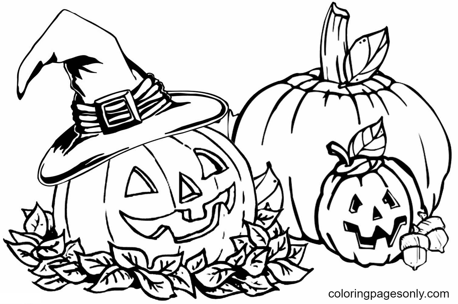 Halloween Pumpkin to Print Coloring Page