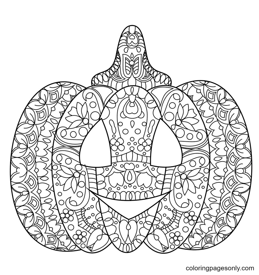 Halloween Pumpkins Free Coloring Page