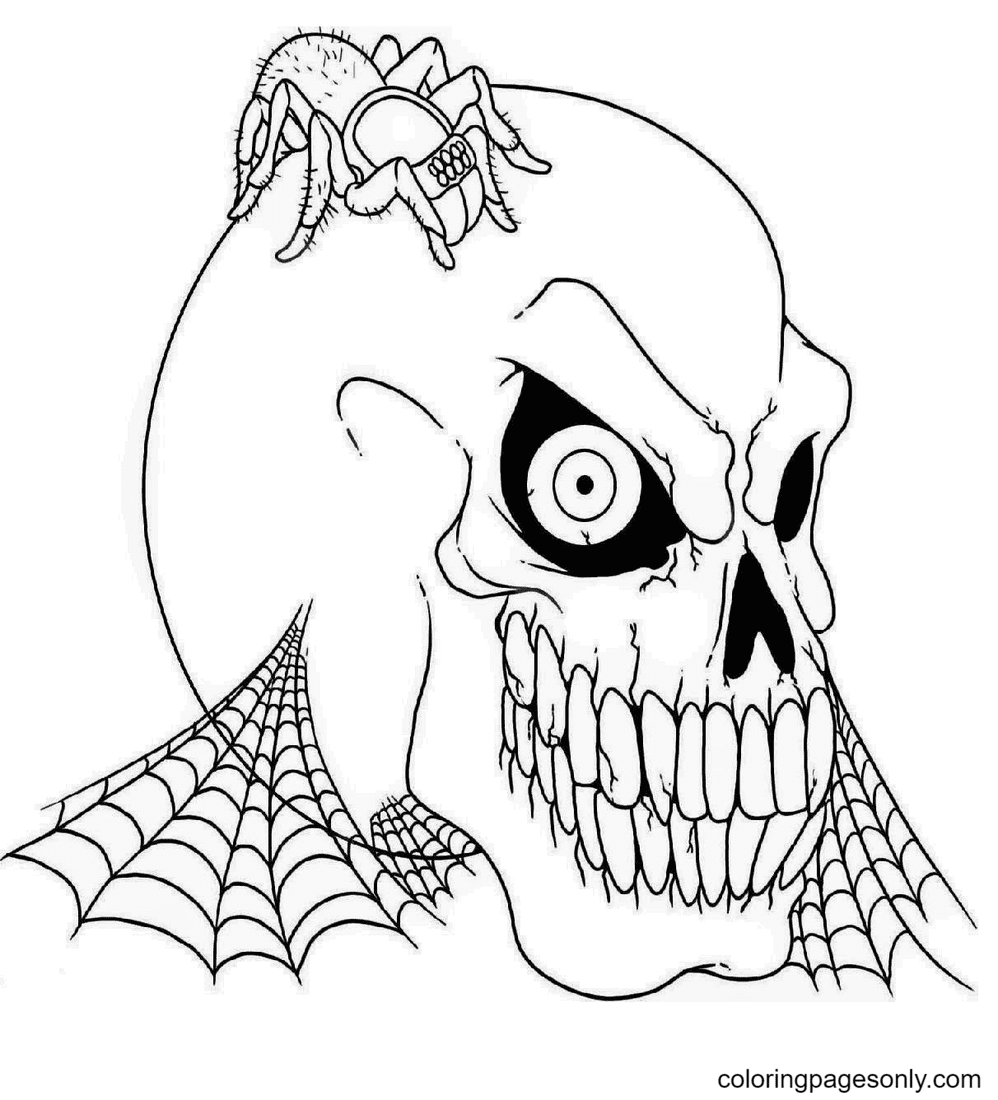 Halloween Scary Mask Coloring Page