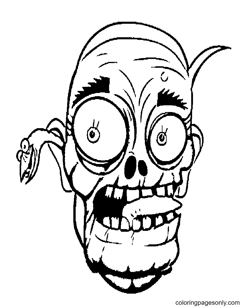 Halloween Scary Masks Printable Coloring Page