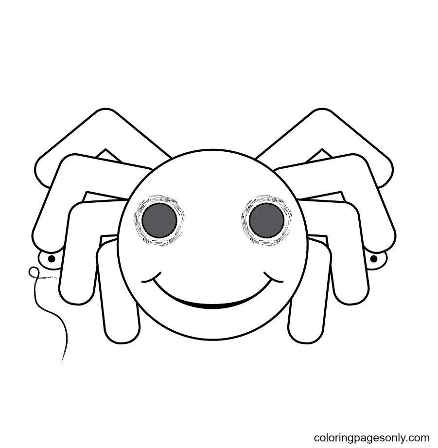 Halloween Spider Mask Coloring Page