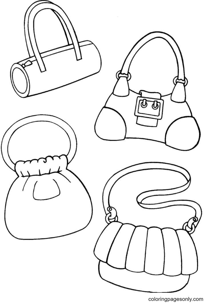 Handbags Coloring Page