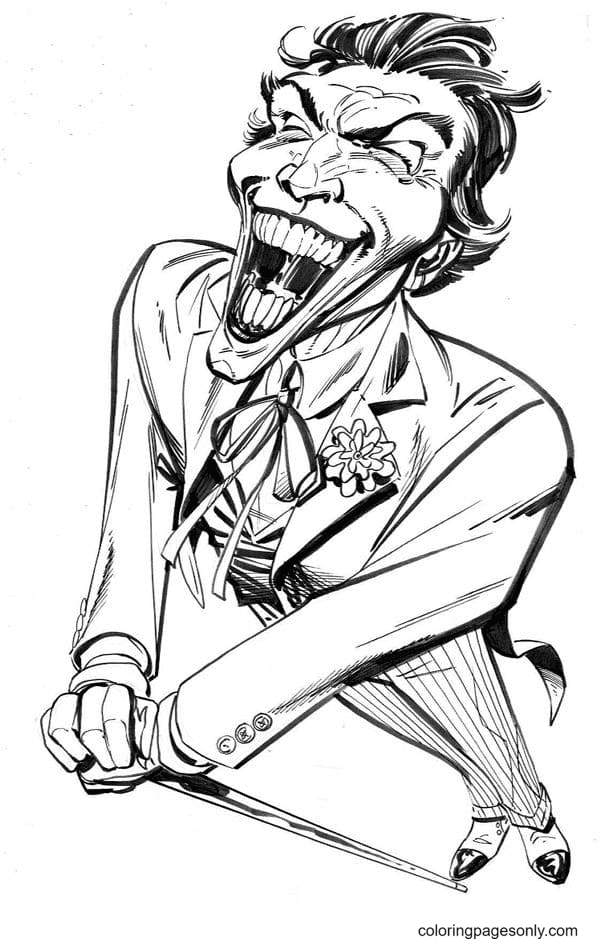 Happy Joker Coloring Page