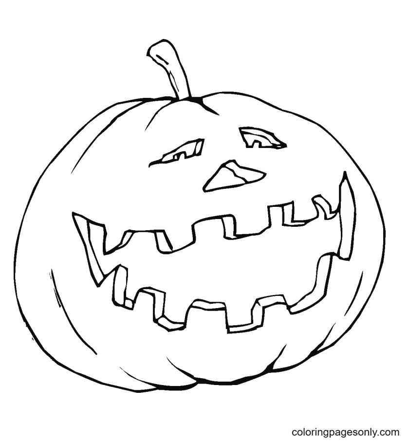 Happy Pumpkin Coloring Page