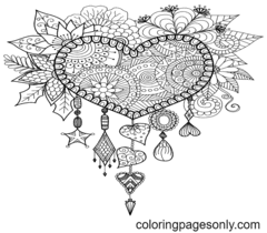 Hard Coloring Page