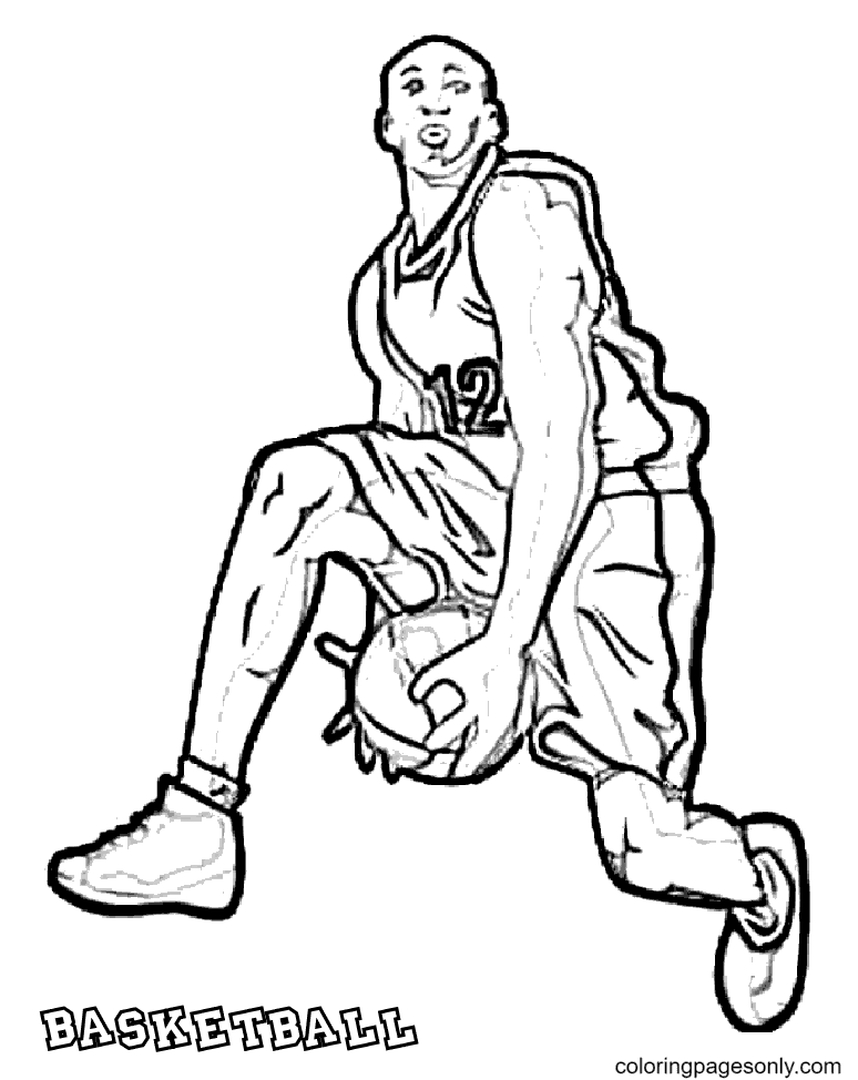 He is Dribbling Coloring Page
