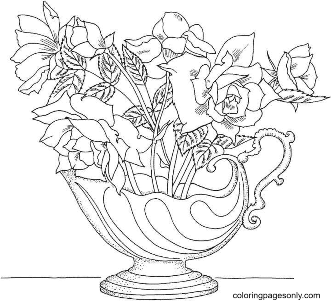 'Holy Toledo' Miniature Rose Coloring Page