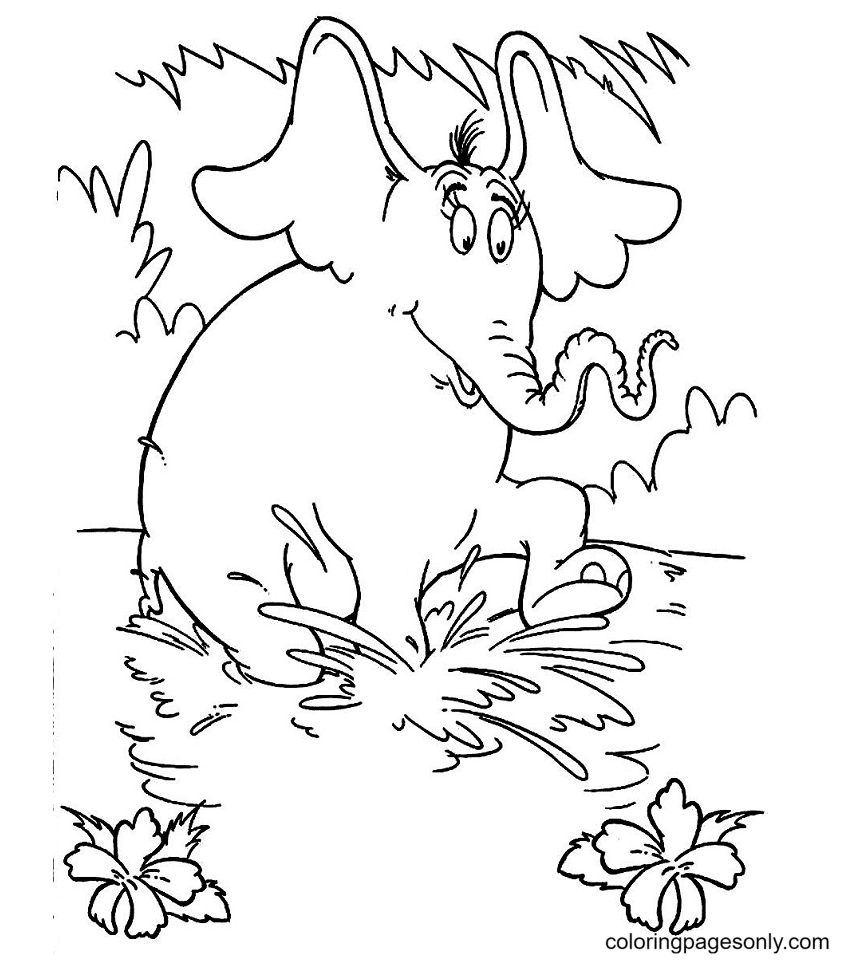 Horton On The River Coloring Page