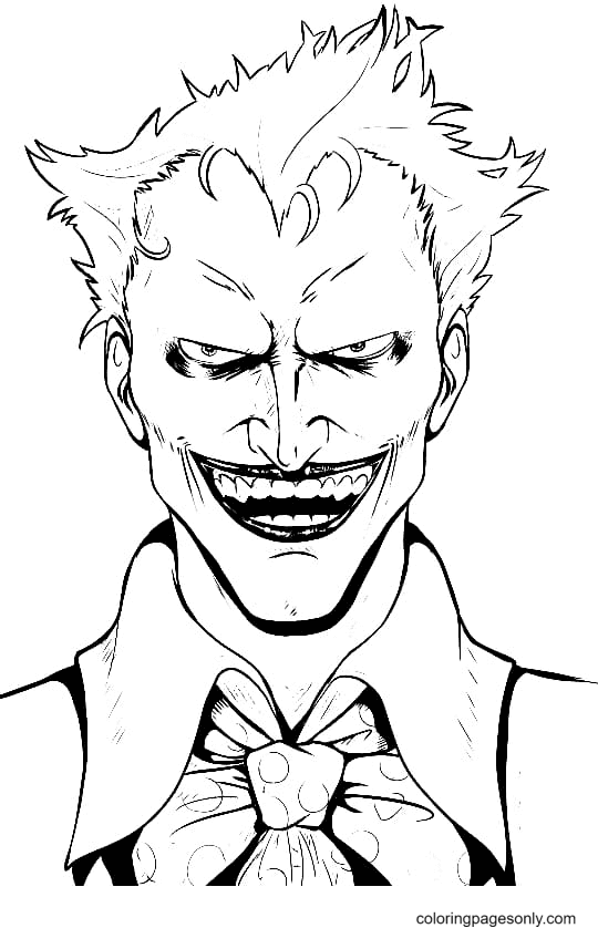 Insidious Clown Coloring Page