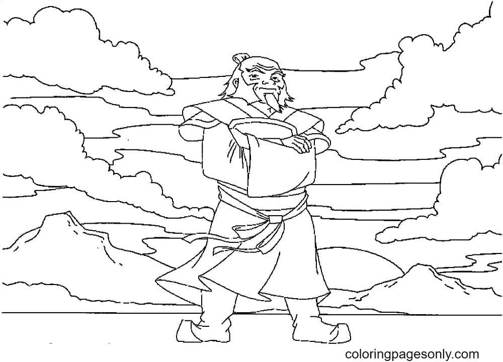 Iroh Coloring Page
