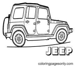 Jeep Coloring Page