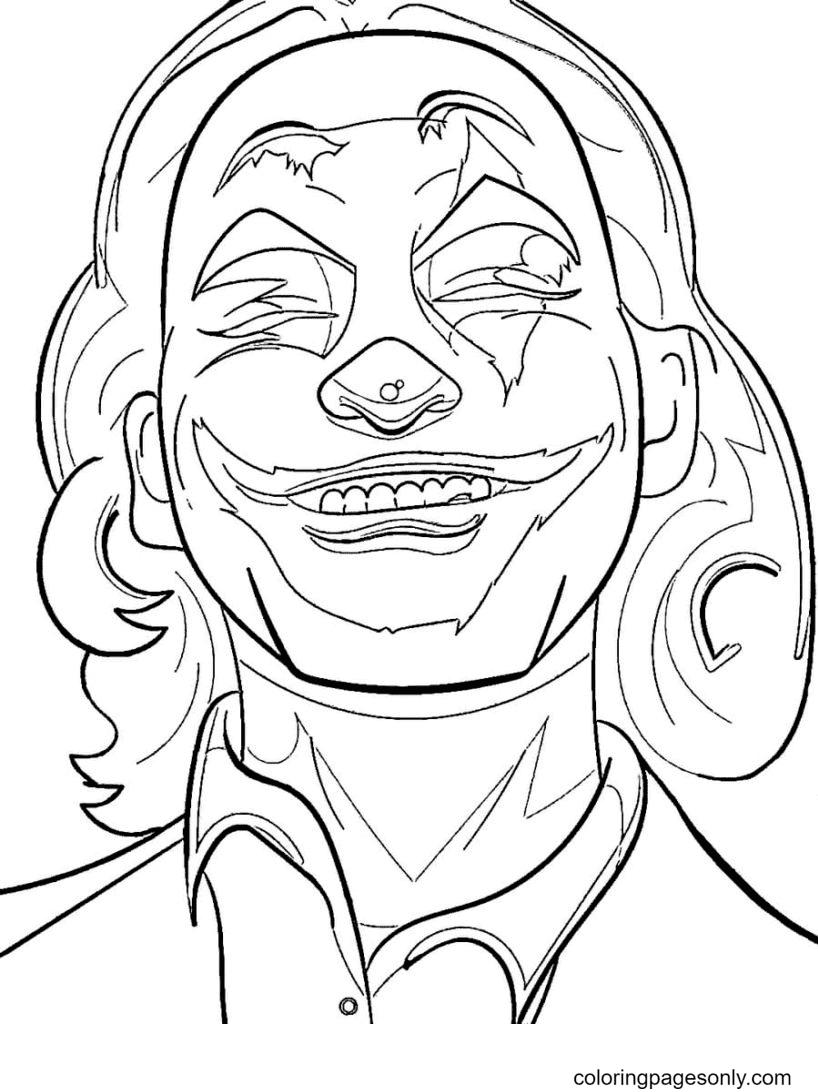 Joker Arthur Fleck Coloring Page