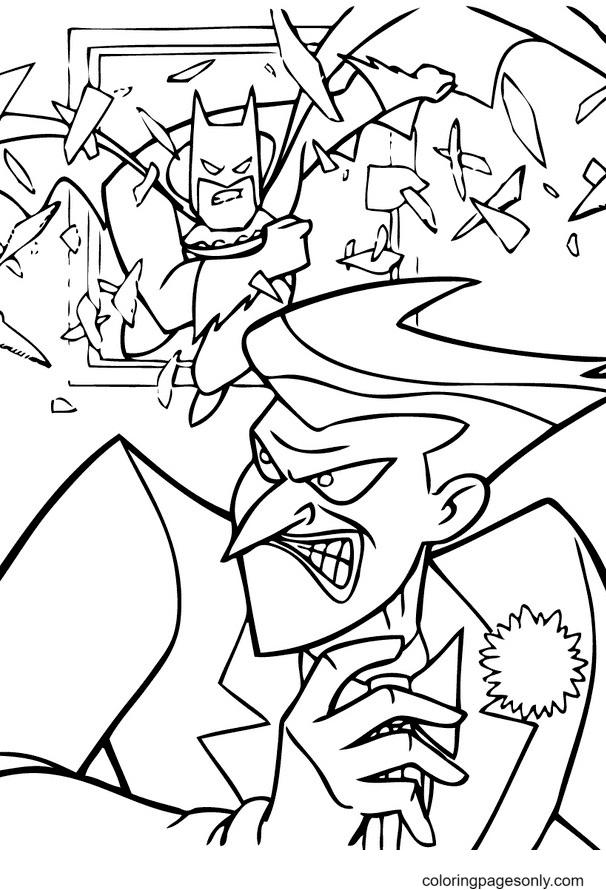Joker and Batman Coloring Page