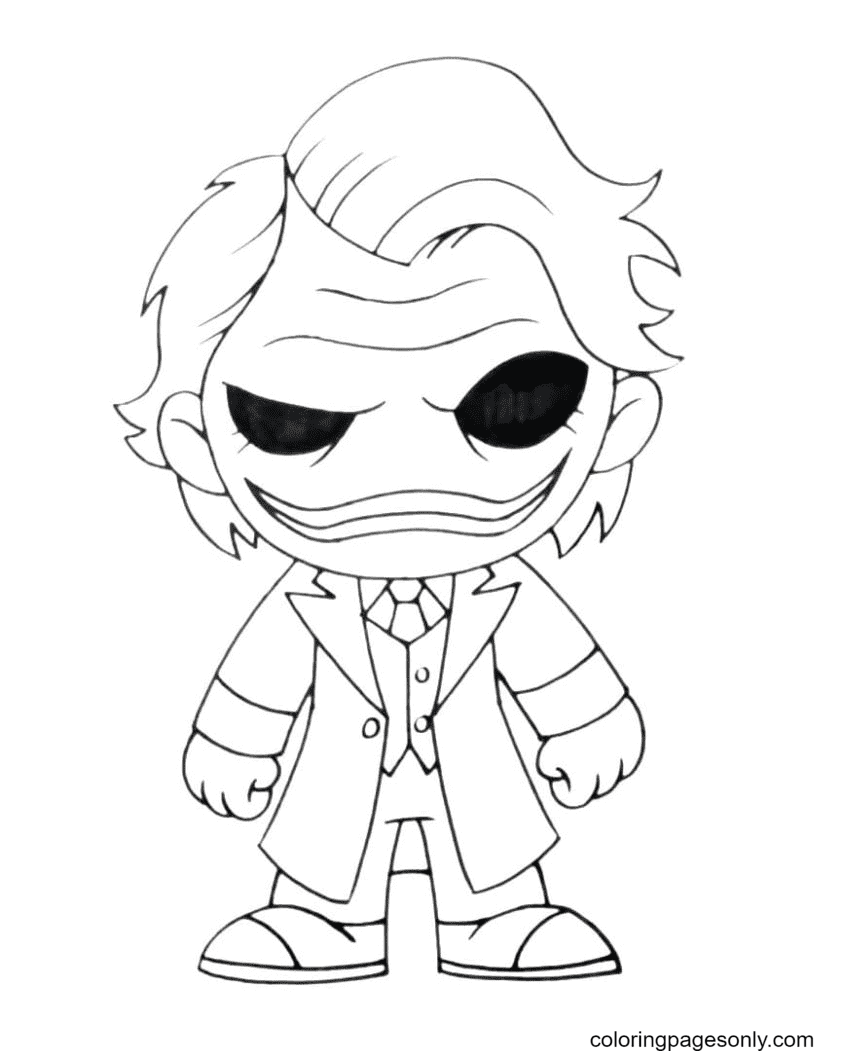 Joker from DC Comics Coloring Page