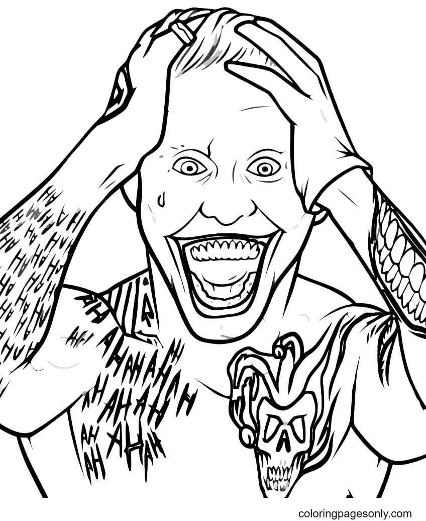 Joker from Suicide Squad Printable Coloring Page