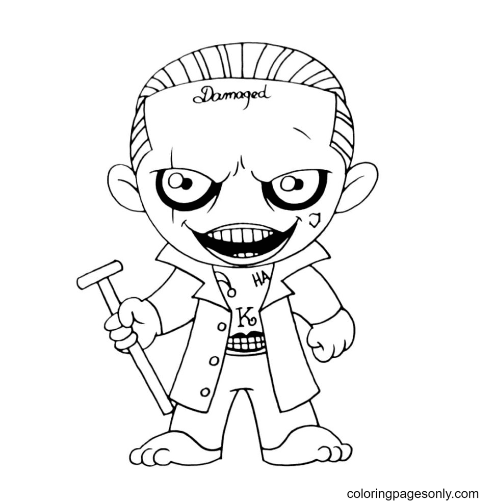 Joker from Suicide Squad Coloring Page