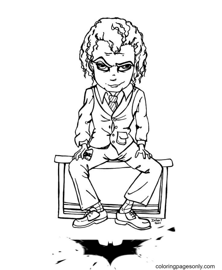 Joker in the image of a young guy Coloring Page