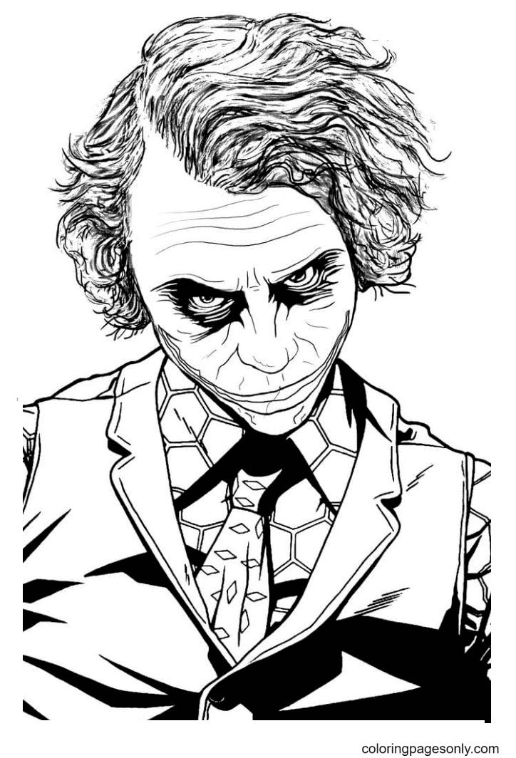 Joker is Batman's enemy Coloring Page