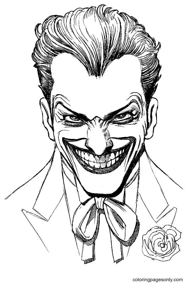 Joker is like a Clown Coloring Page