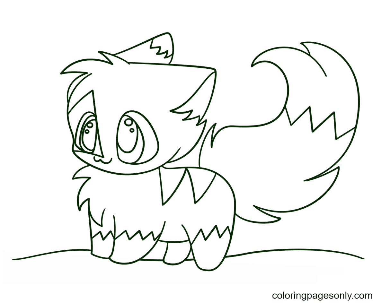 Kawaii Chibi Kitten Coloring Page