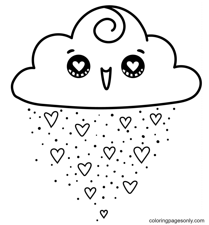Kawaii Cloud Coloring Page