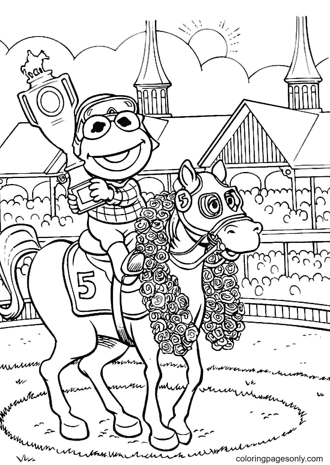 Kermit is a Winner Coloring Page