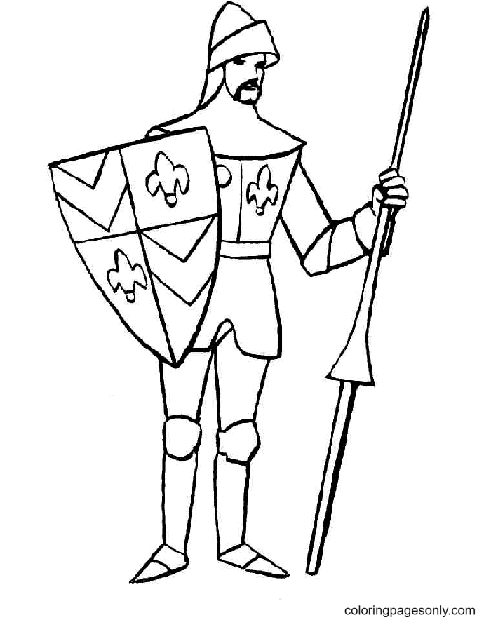 Knight Printable Coloring Page