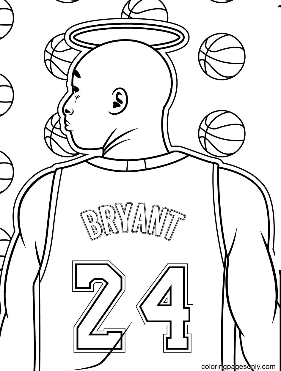 Kobe Bryant Coloring Page