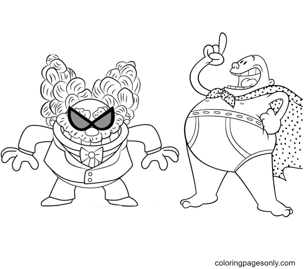 Krupp and Poopypants Coloring Page