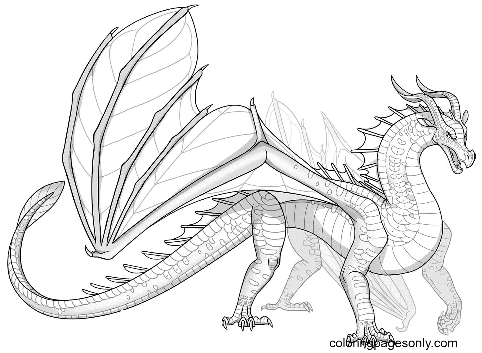 Leafwing Dragon Printable Coloring Page