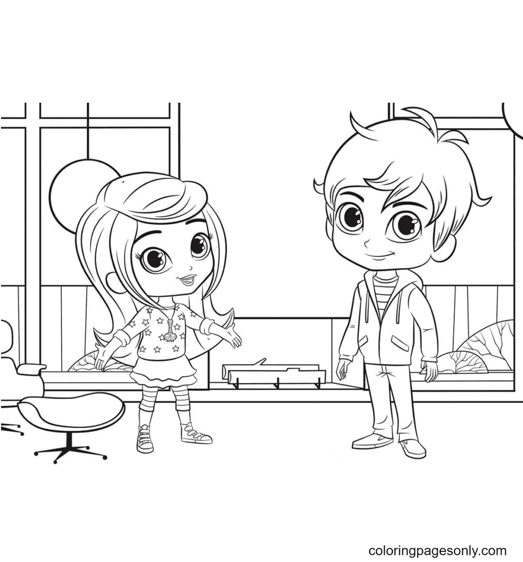 Leah is happy to see Zac Coloring Page