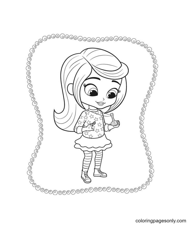 Leah with a small jug Coloring Page