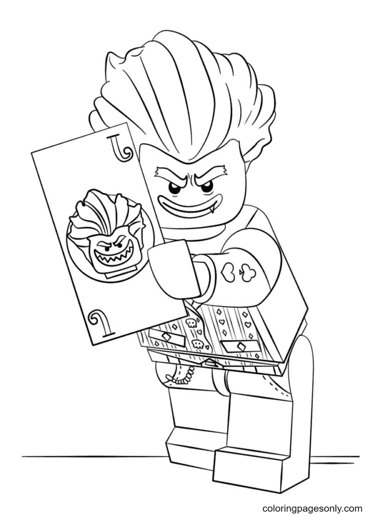 Lego Joker with map Coloring Page