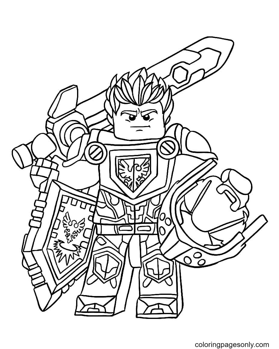 Lego Nexo Knight Coloring Page