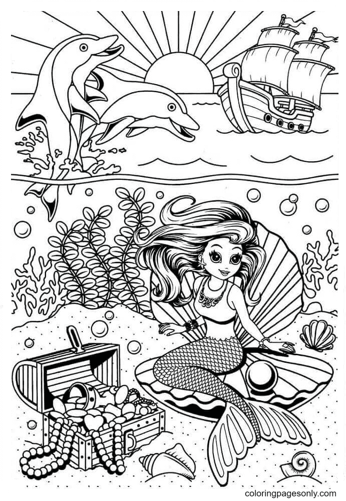 Lisa Frank Characters In The Sea Coloring Page