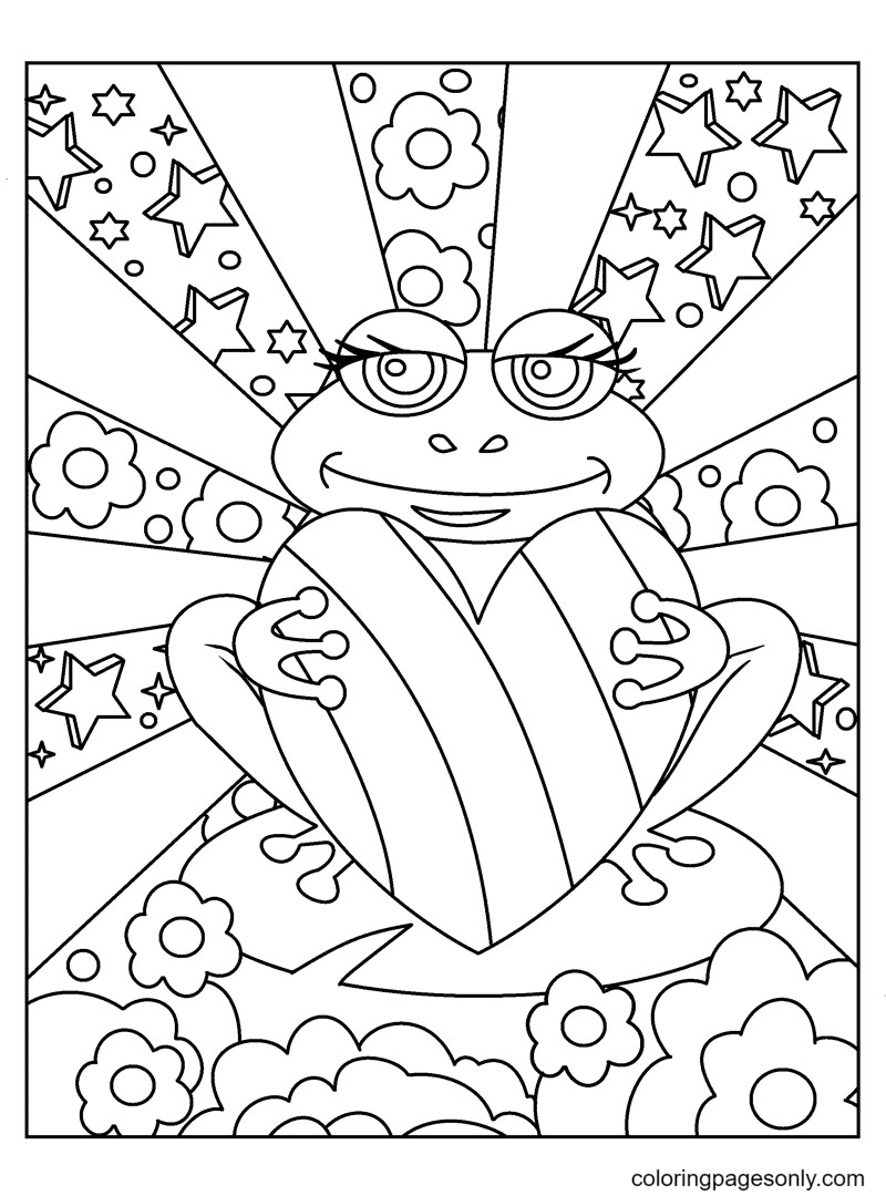 Lisa Frank Free Coloring Page