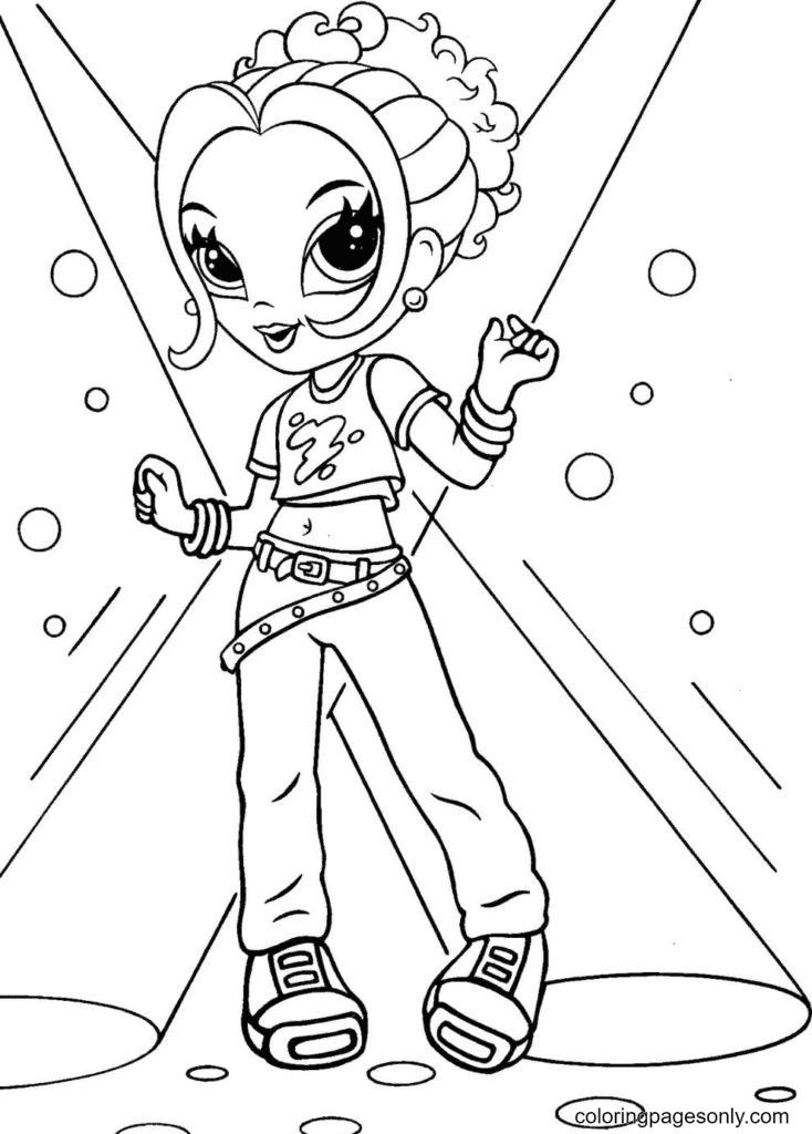 Lisa Frank dancing Coloring Page