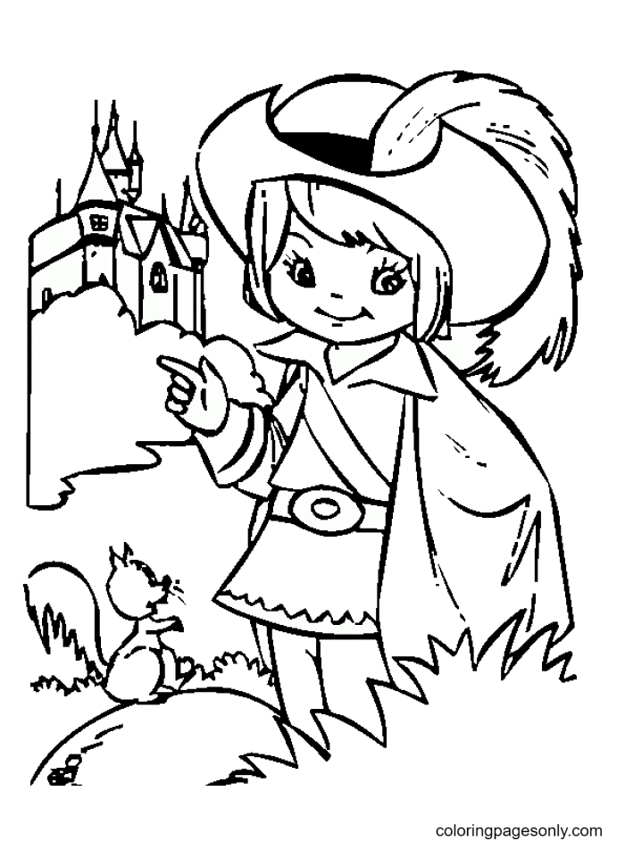 Little Knight Coloring Page
