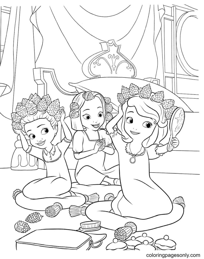 Little Princesses Coloring Page