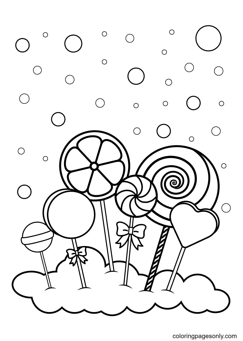 Lollipop Cloud Coloring Page