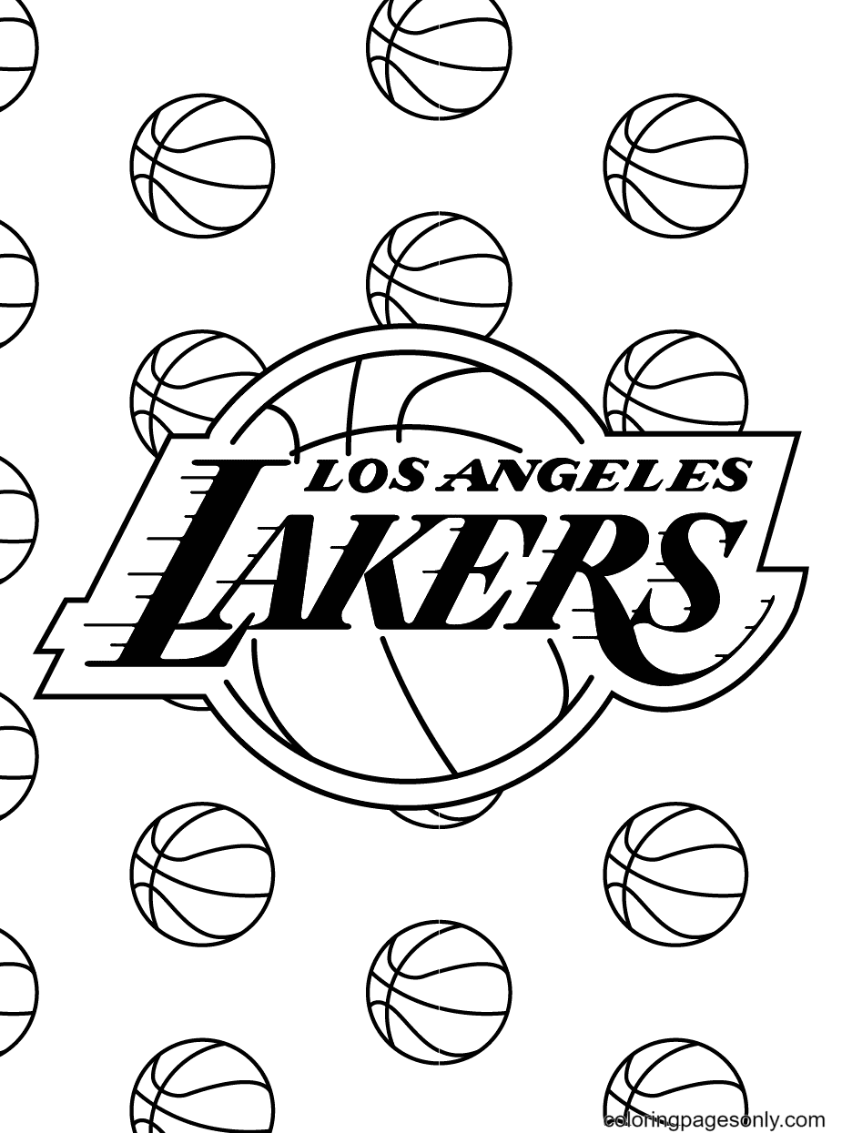 Los Angeles Lakers Coloring Page